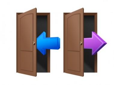 login-and-logout-door